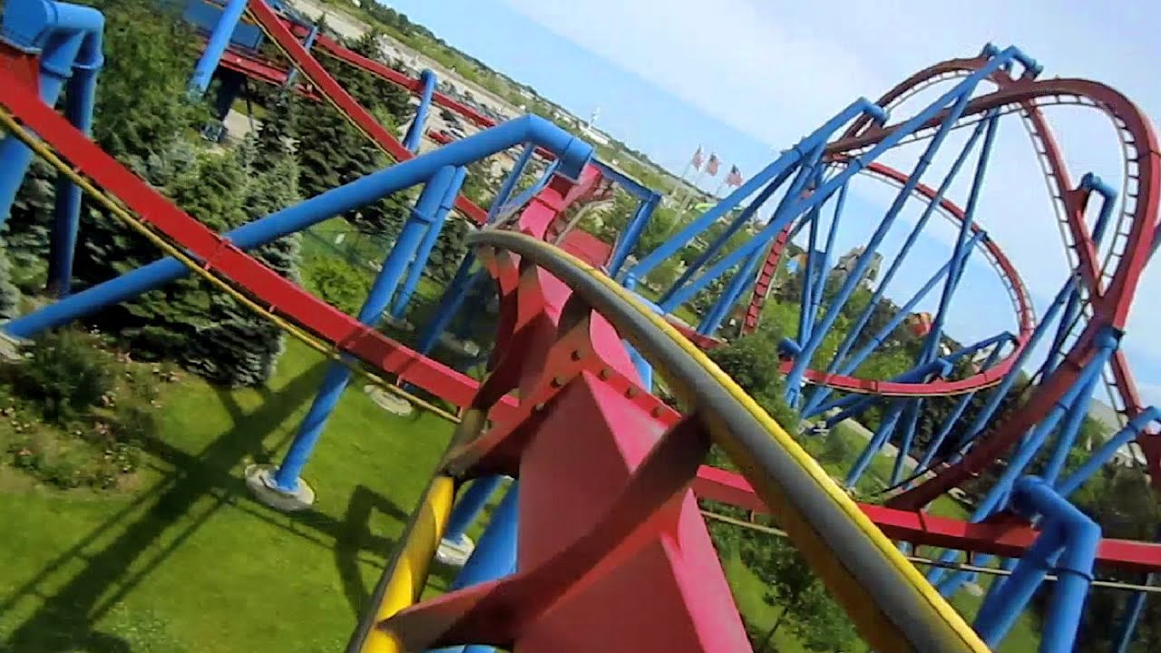 Superman Ultimate Flight Front Seat On Ride Hd Pov Six Flags Great America Youtube