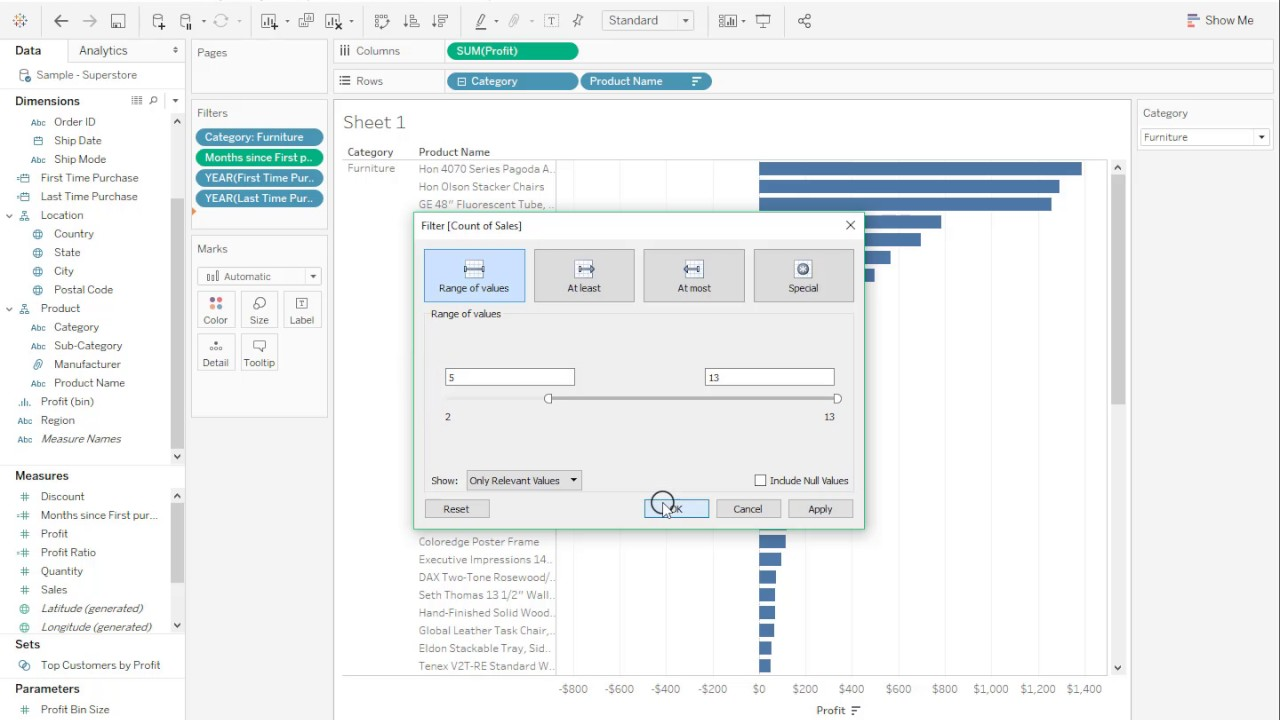 How to create Cohort Analysis views in Tableau