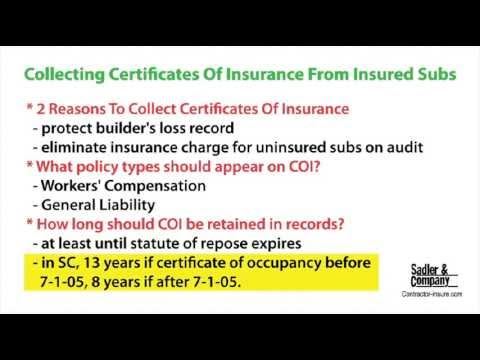 Collecting Certificates of Insurance from Insured ...