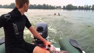 Yamaha 40 Водные лыжи , учимся