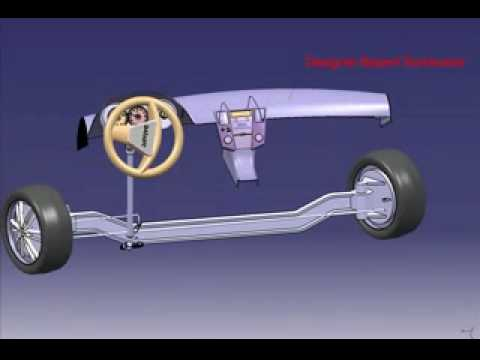 Steering Mechanism With Worm And Wheel Gear In Catia