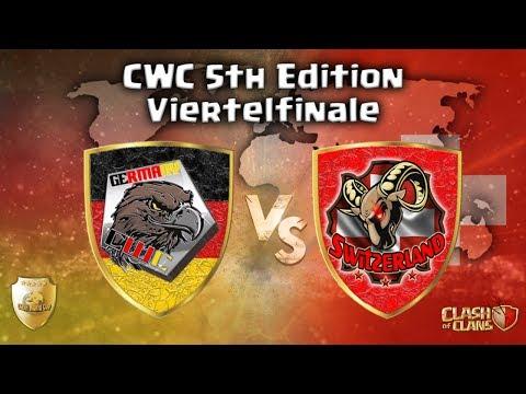 CWC Viertelfinale | Deutschland Vs Schweiz | Wer Kommt Ins Halbfinale ? | Clash Of Clans LIVE