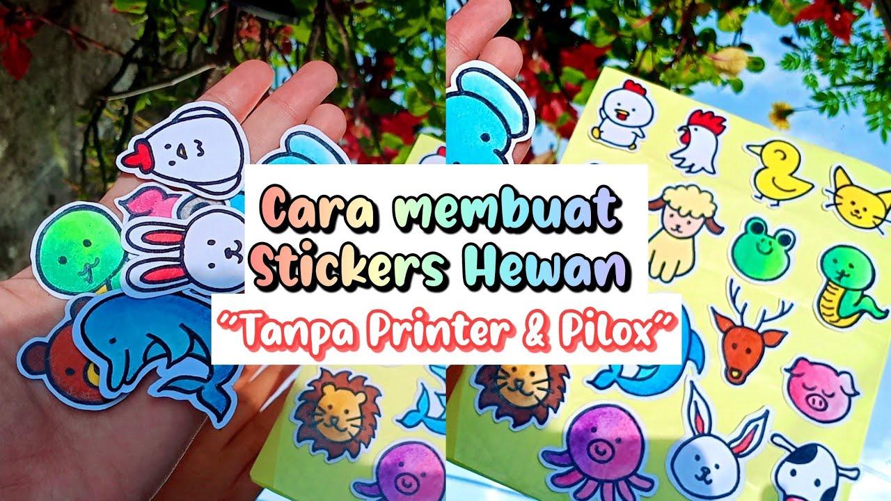 Cara Membuat Stiker Hewan Animals Tanpa Printer Indonesia 2021 Youtube