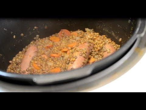 saucisses-lentilles-recette-cookeo