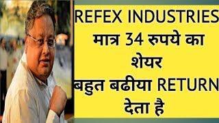 REFEX INDUSTRIES  मात्र 34 रुपये का शेयर बहुत बढीया RETURN देता है || Latest stock market tips
