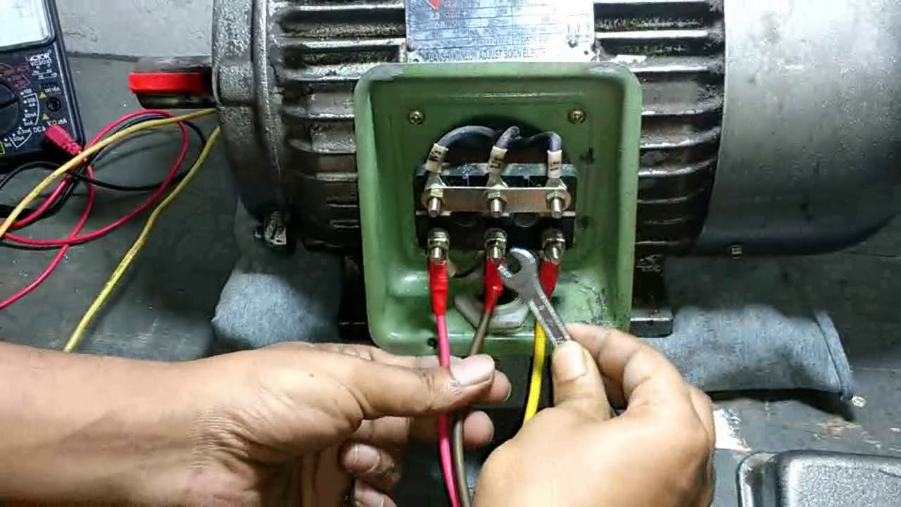 Three Phase Motor Reverse  U0026 Froward Connection
