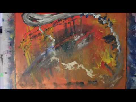 Démonstration Art Abstrait Peinture à Lu0027huile