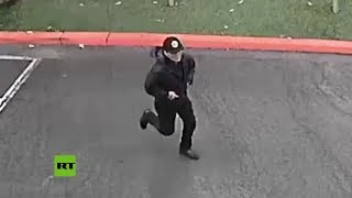 Publican un boceto y un video del sospechoso de haber matado a puñaladas a un empleado universitario
