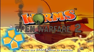 Worms Open Warfare 2 PPSSPP Gameplay Full HD / 60FPS