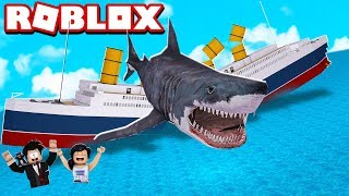 LOKIS HAS SPENT VERY ROBUX WITH THE TITANIC | ROBLOX-SharkBite