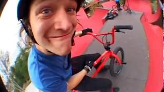 Drew Bezanson at Dennis Enarson's Ramps. BMX Park.