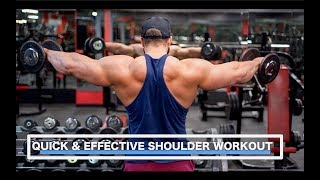 Quick and Effective Bodybuilding Shoulder Workout