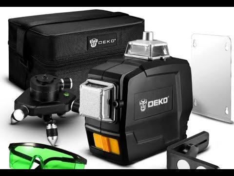 Лазерный Уровень DEKO 3D Зеленый Луч