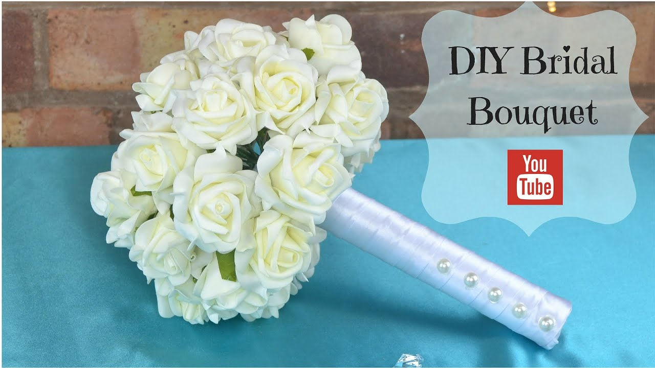 Diy bridal bouquet how to create your own bridal wedding flowers diy bridal bouquet how to create your own bridal wedding flowers bouquet using foam flowers youtube izmirmasajfo