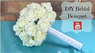 DIY Bridal Bouquet: How to create your own bridal wedding flowers bouquet using foam flowers.
