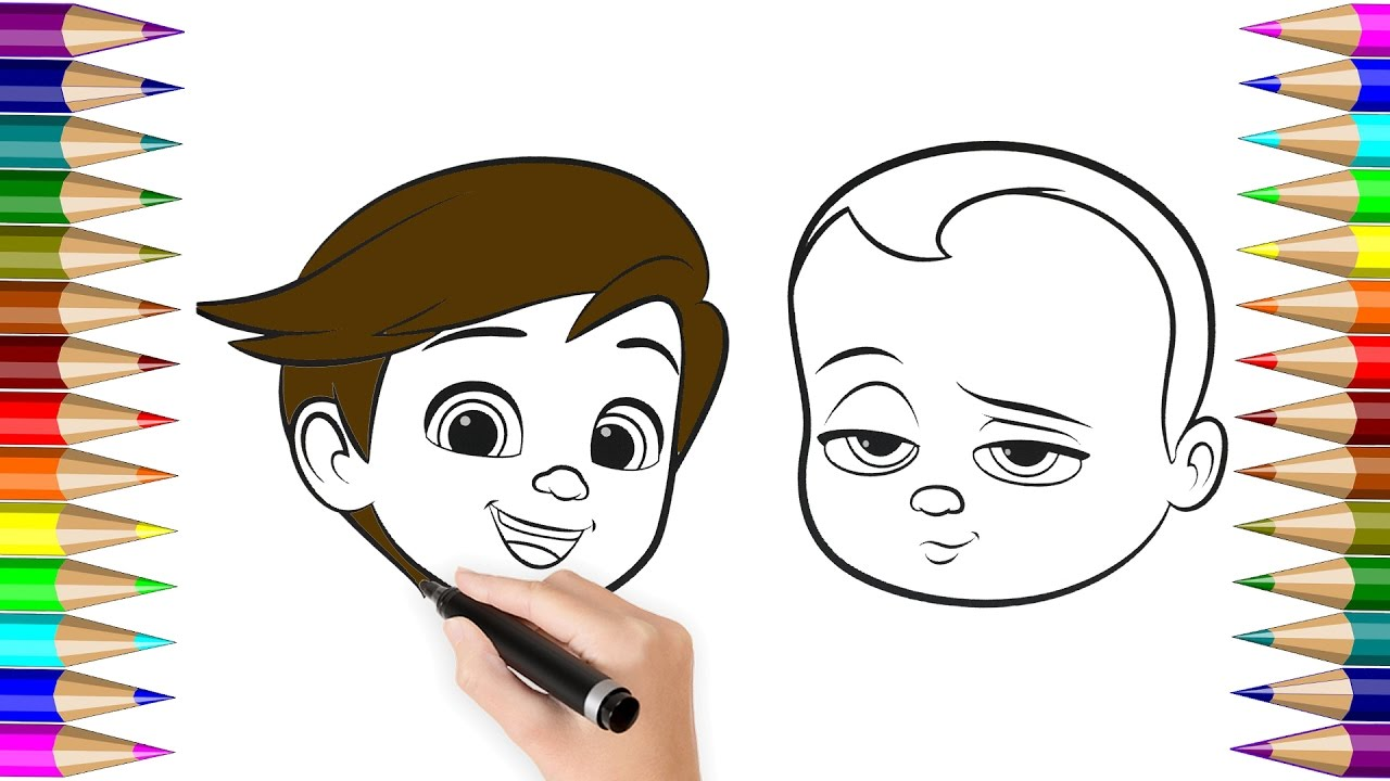 Children coloring pictures - Coloring Pages Boss Baby For Kids How To Colours Videos For Children Coloring Book