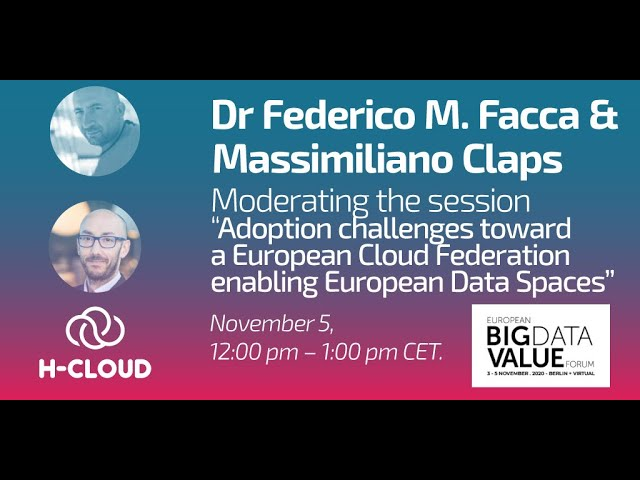 H-CLOUD session on Cloud adoption challenges at European Big Data Value Forum 2020