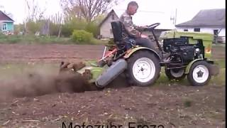 Мотоtraktor Zubr 12QE,работа фрезы.(, 2015-09-21T11:44:39.000Z)