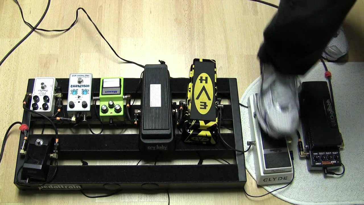 Cry Baby Clyde Mccoydunlop Cm95 Mccoy Wah Jen Vox V846 Layout Evh Crybaby Fulltone Ex 7 Demo With Distortion