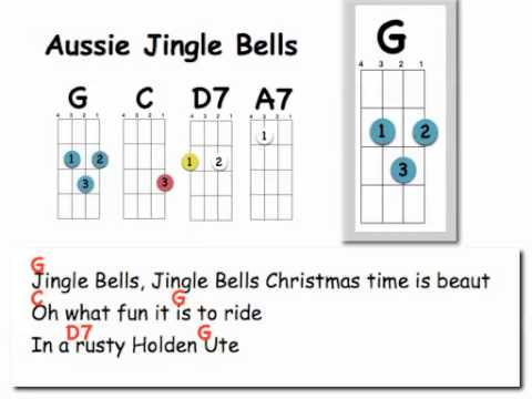 Aussie Jingle Bells Uke And Lyrics Youtube