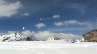 Snowkiting at Col du Petit St Bernard Thumbnail