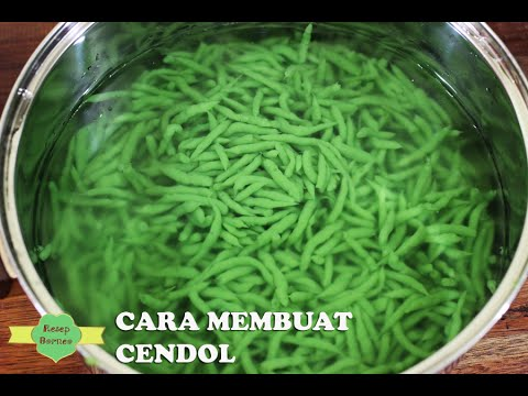 How To Make Natural Cendol No Coloring Agents