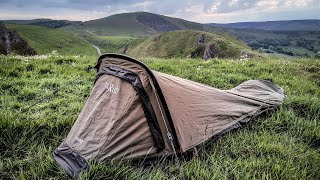 Bivi camping in The Peak District