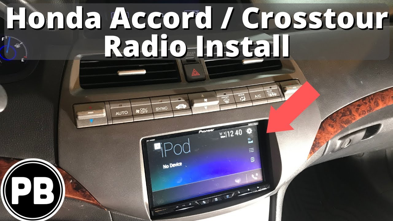 2008 2012 Honda Accord Crosstour Bluetooth Stereo Install Youtube