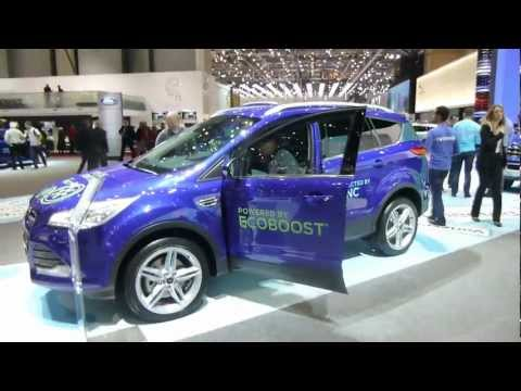 NEW FORD KUGA 2013 SALON AUTO GENEVE CAR AUTOMOBILE АВТОМОБИЛЬ ЖЕНЕВА SUV CROSSOVER