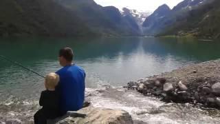 Olden fishing camping gryta norway