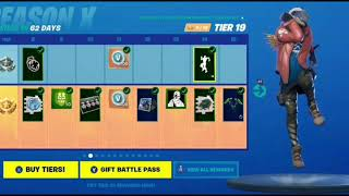 Fortnite Battle Royal - ALL Battle Pass Emotes In Season X (In Order)