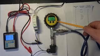 тестирование датчика давления 4-20 мА
