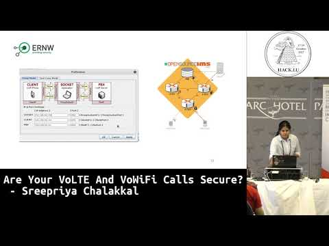 Hack.lu 2017 Are your VoLTE and VoWiFi calls secure? by Sreepriya Chalakkal