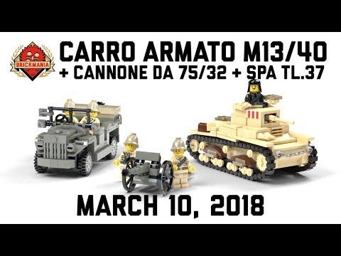 Carro Armato M13/40, Cannone Da 75/32, SPA TL.37 - Custom Military Lego