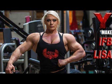 Huge muscles girl lisa cross workout female - Lisa cross fbb ...