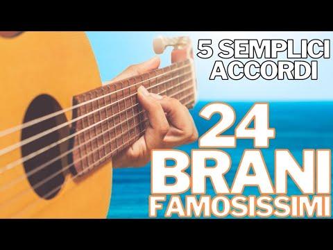 5 Accordi Semplici x 24 Canzoni Famose - Chitarra da Spiaggia