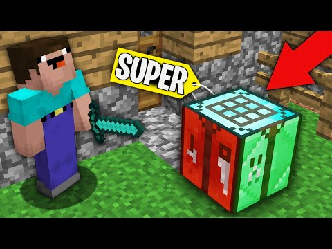 Minecraft NOOB Vs PRO : NOOB CRAFTED THIS SUPER MULTI CRAFTING TABLE BLOCK! Challenge 100% Trolling