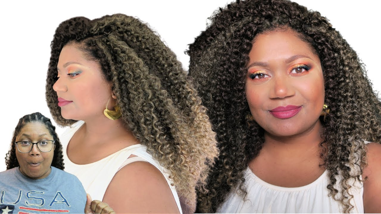 I did MY HAIR ! Easy DIY Protective Style for LEO season!  #Curlyhair #hairstyle #crochet by Habiba