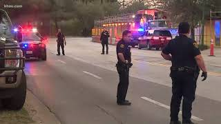 Roads blocked off in downtown Houston as injured officers arrive at hospital