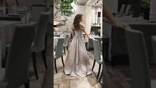 G 3185 Платье вечернее из люриксового трикотажа video