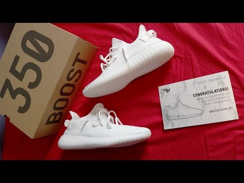 "WINNING THE ""TRIPLE WHITE"" YEEZY 350 V2S FROM AN INSTAGRAM RAFFLE!!!"