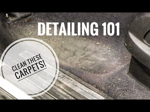 DIRTY CAR CARPETS | DETAILING 101 how to clean step by step
