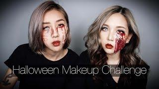 Thỏ Và Cent   Challenge Trang Điểm Halloween -  Makeup Halloween Cho Người Không Biết Vẽ
