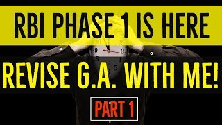 MAY CURRENT AFFAIRS REVISION FOR PHASE 1 | Part 1 | RBI GRADE B 2018