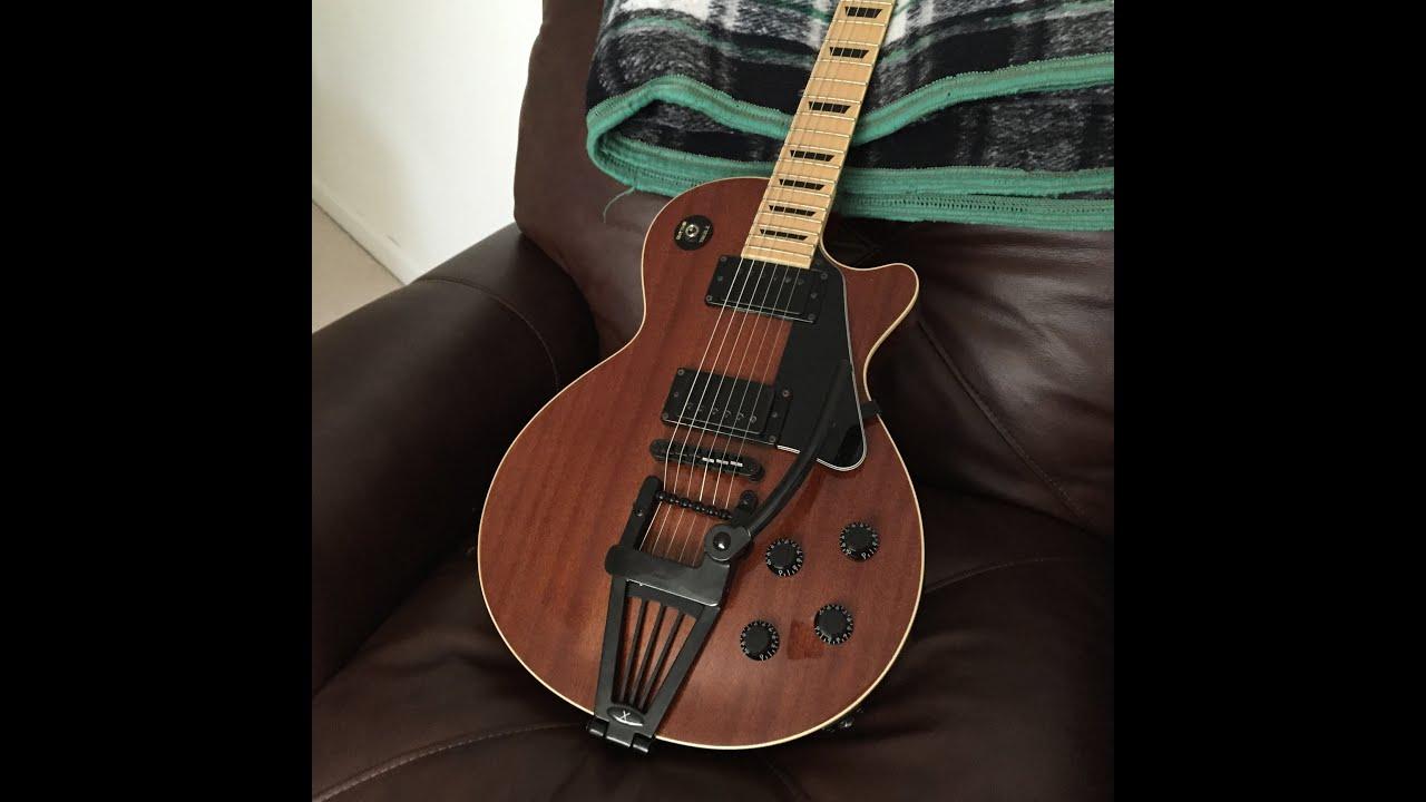 Guitar Project - Adding Xtrem Tremolo on Import Les Paul Style Guitar(Agile  AL2000)