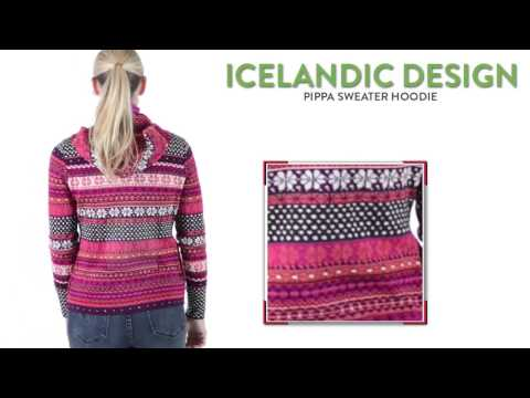Icelandic Design Pippa Sweater Hoodie - Wool Blend, Full Zip (For Women)