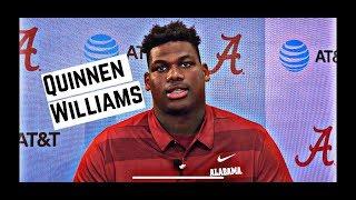 Alabama Crimson Tide Football: Quinnen Williams speaks to media