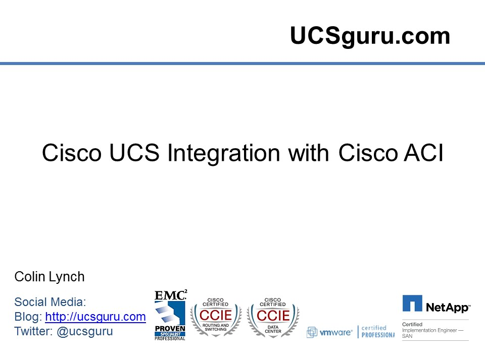 Cisco UCS Integration with Cisco ACI - YouTube
