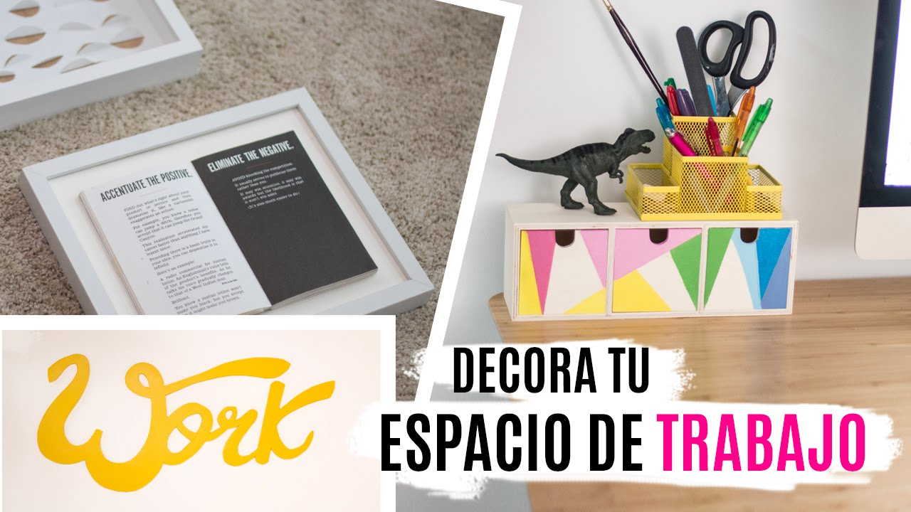 5 diys para decorar tu escritorio espacio de trabajo for Decoracion de escritorios