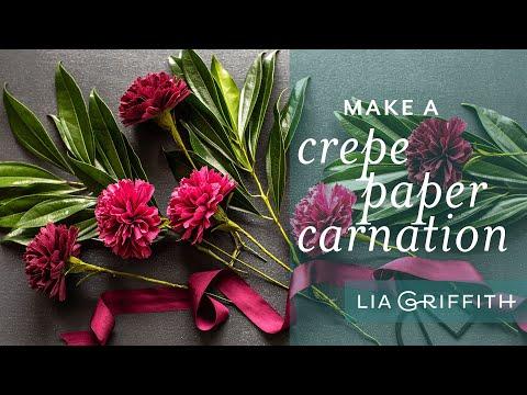 Make a Simple Crepe Paper Carnation